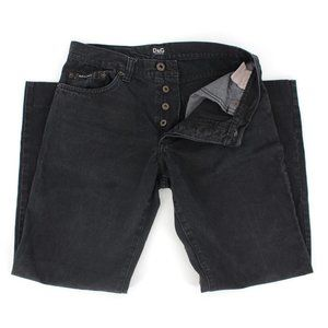 Dolce & Gabbana Black Hemmed Jeans Size 32